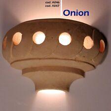 Lampada da parete artigianale in pietra Leccese - applique MODELLO ONION