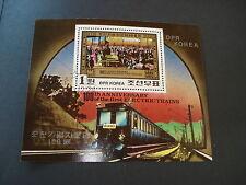 Briefmarken Korea Block Motiv 100 Jahre Elektrische Eisenbahn