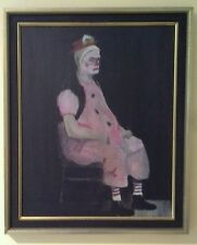 Original Clown Oil Painting by F. Ackerman from the Vincent Price Collection