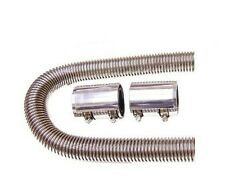 "New 24"" Chrome Stainless Radiator Hose & Polished Caps Universal"