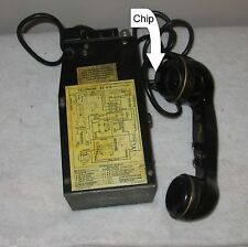 VINTAGE WW2 /KOREAN U.S.ARMY MILITARY FIELD PHONE RADIO MODEL EE-8-B  39 SPT