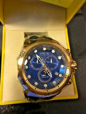 @NEW Invicta Reserve Men's Venom Swiss Movt Quartz 16148 Blue - Gold Tone IP