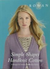 Rowan KNITTING PATTERN Book Simple Shapes Handknit Cotton 8 Designs for Women