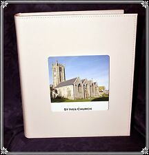 White Book-bound Traditional Wedding Personalised Photo Album Special #11
