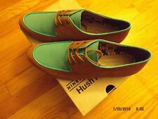 Hush Puppies Graham Blucher tan and turquoise leather. New. Sz 10M.