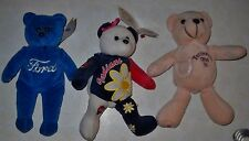 VTG 3  BEANBAG BEARS CLEVELAND INDIANS I LOVE MOM, FORD & TENNESSEE STATE BEAR