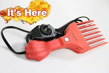 afro pick - Hot Pick - Heated Hair Comb - Beard comb - Natural Hair - Shawty Red
