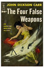 Pulp Novel Poster 11x17 The Four False Weapons Pin Up Girl fiction sexy