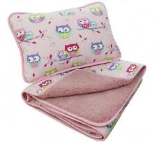 SALE! BABY PINK Merino Wool & Cotton Cot Bed Baby Quilt / Duvet + PILLOW 40x60cm