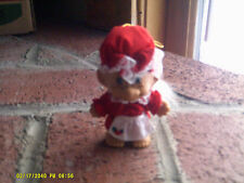 """4"""" Tall Troll Red Dress, Apron and Hat White Hair Ornament(*)"""
