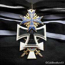 Pour Le Merite Grand Cross of the Iron Cross & Red Eagle Military Medals Repro