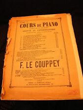 Partition Cours de Piano F Le Couppey ABC du Piano Music Sheet
