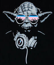 Cool DJ Yoda Trance T-shirt Man Hip Hop Graffiti Star Wars Guy XL