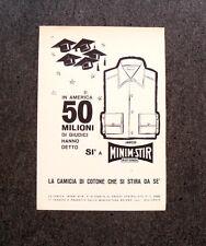 M307- Advertising Pubblicità -1960- MINIM STIR , LA CAMICIA CHE SI STIRA DA SE'