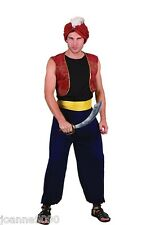 Mens Arabian Nights Bandit Genie Aladdin Panto Fancy Dress Costume Outfit Turban
