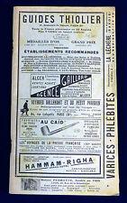 Guides Thiolier. Sud de la France. 11° Edition 1930. 84 pages