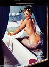 1940s Pin-Up Girl Busted in the Bath Picture Poster Print Vintage Art Pin Up