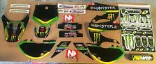 Klx 110 02-09 kx 65 02-14 Kawasaki Graphics Kit with decal sheet and bar pad