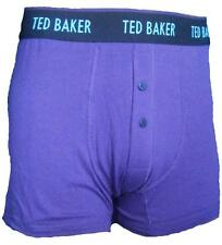 TED BAKER BUTTON FLY COTTON WOLFEE BOXER SHORTS BRIEFS TRUNKS PLUM PURPLE GIFT 2