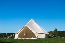 4M Bell Tent with ZIG zipped in Groundsheet camping Glamping Outdoor waterproof