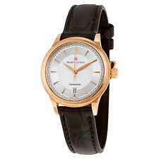 Maurice Lacroix Les Classiques Silver Dial Brown Leather Automatic Ladies Watch