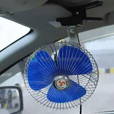 "8"" 12v Auto Car Truck Cooling Oscillating Fan with Clip Smoke Lighter Plug 6Go"