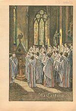 Choral choeur La Cantoria de Luca della Robbia Religion Catholique   1933
