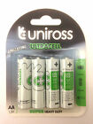 96 x AA UNIROSS Zinc Heavy Duty batteries 1.5v (24 packs of 4) LR6,R6 ULTRACELL