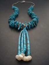 Huge Chunky Vintage Navajo Turquoise Nugget Jacla Necklace old