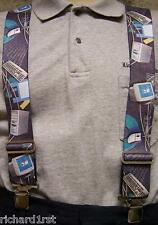 "Suspenders 2""x48"" FULLY Elastic Computer Components NEW"