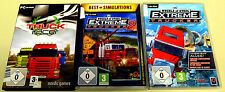 3 PC SPIELE SET - 18 WHEELS OF STEEL EXTREME TRUCKER 1 2 TRUCK RACER SIMULATOR