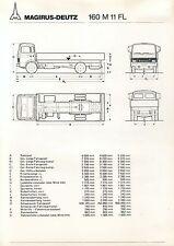Magirus-Deutz 160 M 11 FL Prospekt Technische Daten 6/79 brochure 1979 Lkw truck