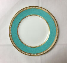 "WEDGWOOD ""ULANDER POWDER TURQUOISE"" SALAD PLATE 8"" BONE CHINA MADE IN ENGLAND"