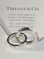 Tiffany & Co Sterling Silver 1837 Medium Interlocking Circles 20 Inch Necklace
