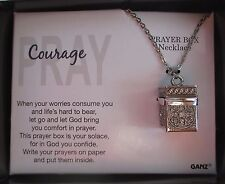 d Courage Pray Prayer Box Necklace Let God brings you comfort ganz