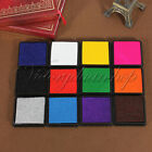 14 Colors Durable DIY Craft Oil Based Ink Pad Print For Stamps Rubber Paper Wood