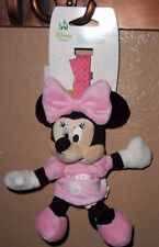 DISNEY MINNIE MOUSE PINK BABY GIRL PLUSH CHIME TOY NEW!