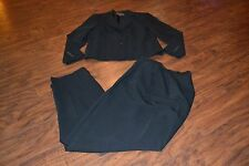 I7- Uniform John Paul Richard Petite Black Pant Suit Size Petite 8