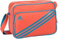 ADIDAS 3 Stripe Enamel Orange Coral Stripes Messenger Shoulder Bag