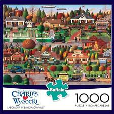BUFFALO GAMES PUZZLE LABOR DAY IN BUNGALOWVILLE CHARLES WYSOCKI 1000 PCS #11437