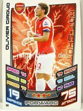 Match Attax 2012/13 Premier League - #018 Olivier Giroud - Arsenal London