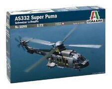 Italeri 1096 AS332 Super Puma Schweizer Luftwaffe Helicopter Kit 1:72 Scale T48