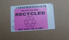 Este cuadro se ha reciclado 50x mm Etiquetas 76mm X 51mm Adhesivo guardar residuos Rosa