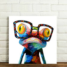 READY TO HANG Framed Home Décor Wall Art Canvas Print Poster Sunglasses Frog