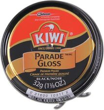 Shoe Polish & Boot Polish Kiwi 1.25 Oz. Black Military Parade Gloss Polish 10111