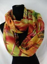 [US SELLER] wholesale endless shawl  colorful abstract print infinity scarf