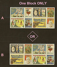 US 4905a Vintage Circus Posters forever block set MNH 2014