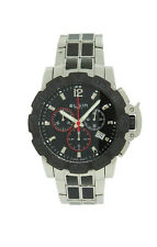 Elgin 1863 52102.2 Men's Round Black Chronograph Date Stainless Steel Watch