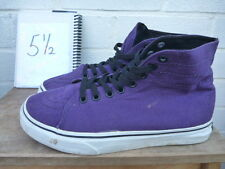 VANS SIZE UK 5.5 PURPLE TRAINERS HIGH TOPS