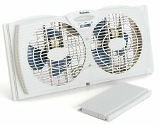 Holmes Dual Blade Twin Window Fan, White, New, Free Shipping